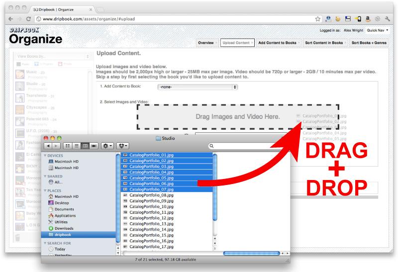 We added a new HTML5 uploader for Chrome, Firefox + Safari
