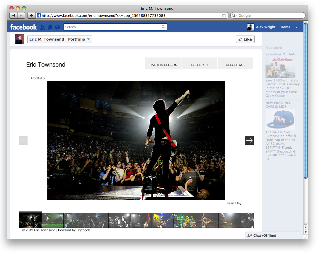 Create a mini-website in a Facebook Fan Page.