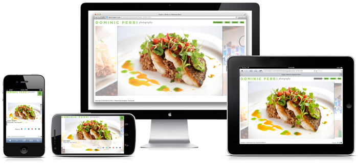 Dripbook's new responsive HTML5 exported websites